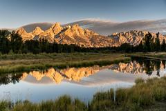 Teton Sunrise (Wildside Photography) Tags: grandtetonnp mountains tetonrange wyoming sunrise water