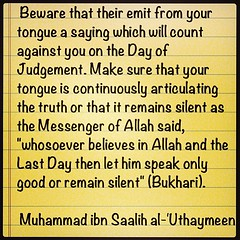 #beware !! (Islamic knowledge) Tags: tongue photo image time god beware good muslim religion arabic cover believe covers muslims talking teach speak   allah muhammad  believer bukhari  ameen       acount