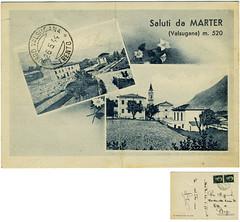 Roncegno Terme, loc. Marter, 1944 (Ecomuseo Valsugana | Croxarie) Tags: 1944 cartolina marter roncegno sittoni roncegnoterme croxarie trintinaglia giuseppesittoni