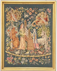 41. Vintage English Mythological Needlepoint