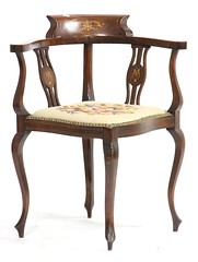 59. Edwardian Inlaid Mahogany Corner Chair