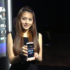 Girl with Blackberry Z10 (specially taken for YOU)
