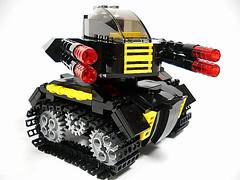 Blacktron Light Tank (BLT) (Peter deYeule) Tags: classic tank lego space blacktron