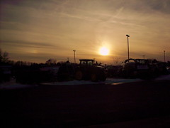 Setting Sun At The Farm Show. (dccradio) Tags: wisconsin mall farming equipment machinery ag agriculture wi agricultural farmequipment farmshow marshfield farmmachinery centralwisconsin shoppesatwoodridge marshfieldmall wisconsinfarming machineryshow agshowagricultureshow