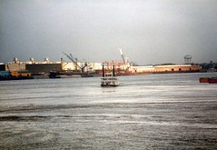 File0228 (alternate_world) Tags: usa skyline boats fishing louisiana ships neworleans cranes swamps mississippiriver houseboats alligators barges paddlewheel riverlife drydocks southlouisiana