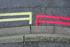 Reading between the lines i felt that Yellow and Red just didn't want to get together (southseadave) Tags: road portsmouth kerb southsea doubleyellowlines roadmarkings sigma1020mm paintedlines a65 doubleredlines alpha65