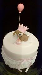 Party Pup ( aka Ruffles!) (Julia Hardy Cakes) Tags: birthday dog girl cake puppy ruffles balloon essex topper frilly fondant frills