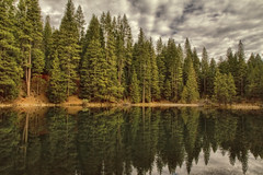 Morning at Blair Lake (HSS) (buffdawgus) Tags: winter northerncalifornia blairlake nevadacounty reflectingpond sierranevadarange malakoffdiggins sierranevadafoothills canon7d canon1585mmusmis lightroom4 topazsw