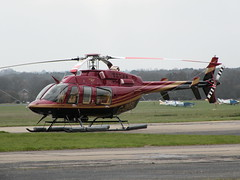 G-IMBL BELL 407 (BIKEPILOT) Tags: flying airport aircraft aviation aeroplane helicopter airfield bell407 fairoaks egtf gimbl