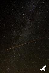 Shooting Star or Plane? (Christian Arballo) Tags: california longexposure northerncalifornia stars nightscape laketahoe desolationwilderness southlaketahoe milkyway canon7d starrynightsky