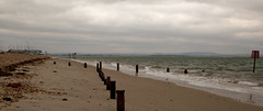 Winter beach (Seascape snapper) Tags: sandy haylingisland pointbeachsandcloudswatergroynesnavigation markershingle