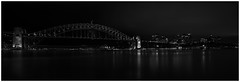 Cloudy with the Chance of Meatballs - B+W (Beetwo77) Tags: city longexposure urban panorama water night landscape cityscape stitch harbour pano kitlens australia filter nd stitching fujifilm 1855mm operahouse fujinon sydneyharbour giga xseries autopano xpro1 xmount xphotographers fujixpro1