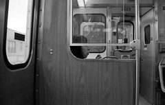 On Second Thought (Fogel's Focus) Tags: leica chicago train cta 33 el transit commuting m4p film:iso=640 acufinediafine developer:brand=acufine developer:name=acufinediafine film:brand=freestylearista freestylearistalegacypro film:name=freestylearistalegacypro400 filmdev:recipe=8328 voigtlandernoktoncv35mmf14sc