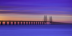 Sunset at the resundbridge (MagnusL3D) Tags: ocean bridge blue sunset sea sky tourism water architecture copenhagen denmark concrete skne sweden outdoor steel malmoe sverige bro region malm magnus malmo havet larsson hav resund skane cs6 skaane captureone leefilters bigstopper leebigstopper topazinfocus d800e nikond800e magnuslarssonphoto