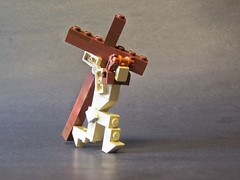 Forgiveness (monsterbrick) Tags: bear cross lego jesus moc crucified