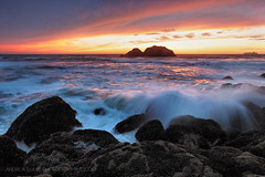 After Hours at the Sutro Baths (Andrew Louie Photography) Tags: ocean california camera orange usa sun seascape west love beach coffee colors rock set breakfast night america canon landscape photography golden coast san francisco waves peace pacific juice weekend toast joy silk jazz burn seal baths sutro muffin friday thursday