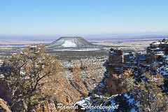 Desert View and Watchtower (pamelainob (Pamela Schreckengost)) Tags: arizona snow grandcanyon southrim desertview cindercone grandcanyonnationalpark desertviewdrive grandcanyonsouthrim pamelaschreckengost pamschreckcom 2013pamelaschreckengost