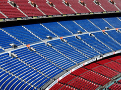 Red and Blue (only lines) Tags: barcelona blue reed lines football spain stadium soccer seats