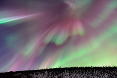 Above Alaska (Ben  H.) Tags: red orange storm green alaska lights purple northern fairbanks auroraborealis geomagnetic
