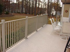 Wahoo Rails can be used as a replacement deck rail system or used in new construction regardless of the materials that were used to construct the deck.