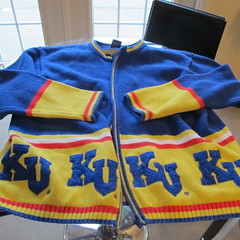 Vintage KU sweater give away at Orchard Corners Apartments! (Orchard Corners) Tags: vintage campus for lawrence sweater student university close apartment ks rental ku ugly kansas housing rent