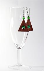 triangle walnut earrings (Kajzars Wood Work Feat. Matej Skubic) Tags: wood triangles wooden walnut oil earrings eco reclaim