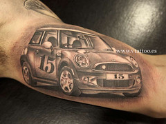mini tattoo (Miguel Bohigues) Tags: valencia car miguel tattoo angel mini coche cooper tatuaje tatuajes bohigues vtattoo