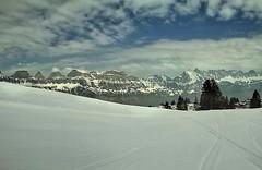 trees winter sky panorama mountain snow ski mountains... (Photo: Мaistora on Flickr)
