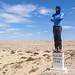 A man in the desert