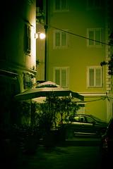 Ripper Street (Villi.Ingi) Tags: street city light urban building green car architecture night danger canon gloomy atmosphere spooky slovenia crime killer stalker terror murder dreamy gloom cinematic toned serialkiller fright ripper slvena