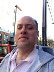 Day 448 - Day 82: Pink shirt (knoopie) Tags: seattle selfportrait me march doug year2 capitolhill day82 picturemail iphone knoop harvardavenue 365days 2013 knoopie 365more day448 365daysyear2