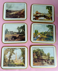 I252N Set x 6 Post WWII boxed placemats featuring John Constable prints (newlyn.antiques) Tags: placemats johnconstable