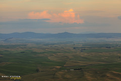 The Palouse (djniks) Tags: sunset green clouds butte hills rollinghills palouse steptoe steptoebutte canon5dmkii canon70200f28isii