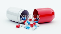 Pills (xtock) Tags: blue red white shiny whitebackground medicine pills protection antibiotic addiction depth capsules threedimensionalshape healthylifestyle prescriptionmedicine isolatedonwhite healthcareandmedicine isolatedobjects vitaminpills conceptsandideas