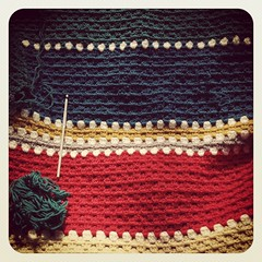 New blanket in the making! (gemmipopdesigns) Tags: stripes crochet blanket granny
