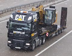 DAF XF PO12 XJJ Caterpillar (gylesnikki) Tags: black cat truck caterpillar artic