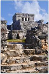 Stairs to El Castillo (Stella Blu) Tags: stone stairs mexico ancient tulum mayan caribbean quintanaroo gamewinner nikkor18200 stellablu challengeyouwinner nikond5000 pregamesweepwinner pregameduelwinner