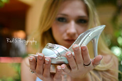 Cinderella (Red 5 Photography) Tags: woman pool girl shoe hotel blurry model holding hands highheel dof princess background longhair depthoffield pump rings hottub blonde romantic manicure cinderella frenchmanicure glassslipper stilleto disneyfanart