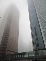 Downtown Calgary (whistlepunch) Tags: mist calgary skyscrapers foggy u hazy yyc