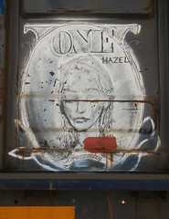 One- Hazel (Sk8hamburger) Tags: railroad art train painting one graffiti paint streak character tag rr yme hazel boxcar graff piece tagging freight moniker paint spray