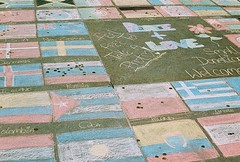 Roll 2 - Flags (Cris Ward) Tags: world street camera old city uk orange streetart streets color colour slr london film yellow rollei analog writing 35mm vintage daylight chalk lomo xpro lomography warm cross britain drawing crossprocess grain trafalgarsquare slide flags retro countries international worldwide national crossprocessing april analogue manual noise processed e6 yashica blown colorshift lsi c41 2013 yashicafxd colorreversal cr200 lomolab digibase rolleidigibasecr200