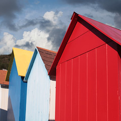 French Beach huts (YourCCDA) Tags: blue red white beach french rouge huts bleu bain blanc beachart olron cabines ccloud christophecloud