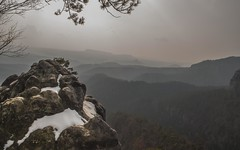 Bohemian Switzerland (Amir Kamran) Tags: light sun mountain mountains nature beautiful beauty fog nikon sandstone foggy amir czechrepublic kamran sunrays bohemian elbe pravcicka brana hrensko bohemianswitzerland pravčickábrána challengeyouwinner d5000 nikond5000 amirkamran