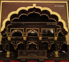 Roof & Balcony of Tippu Sultan Palace (Joevimalraj) Tags: wood roof nature architecture canon eos lights wooden king balcony bangalore joe photowalk sultan darbar bengaluru tippusultan 18century jvr 1100d