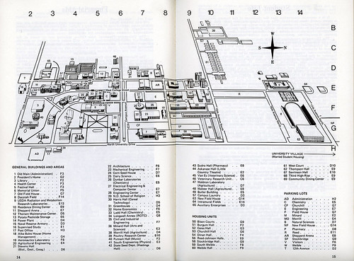 North Dakota State University campus map, 1974