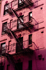 Stairs in Soho (Lucie Bienvenue) Tags: newyorkcity newyork building architecture stairs manhattan soho staircases