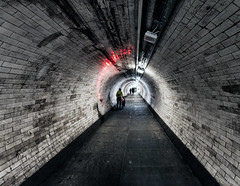 That's The Way To Do It (Sean Batten) Tags: city uk light england urban london bike nikon unitedkingdom greenwich tunnel d800 greenwichfoottunnel 1424