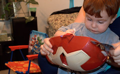 Iron Man! (*Melanie*) Tags: birthday grayson age2