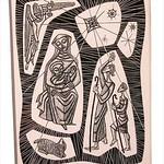 """<b>Nativity</b><br/> Lupori, #1997:08:01, Scratchboard<a href=""""http://farm9.static.flickr.com/8247/8654572897_b69baf663d_o.jpg"""" title=""""High res"""">∝</a>"""