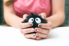Soot Monster nails (jamesbooth_london) Tags: home monster painting studio hands nikon balcony fingers nails soot d800 studioghibli jessme